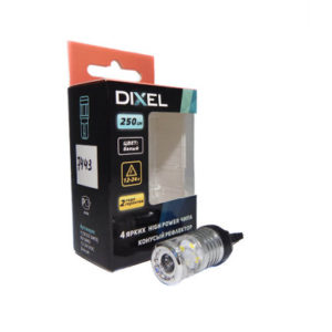 DIXEL W21W (T20) (7440) 4 SMD (3030) RK Белый (250Lm) 12 VDC