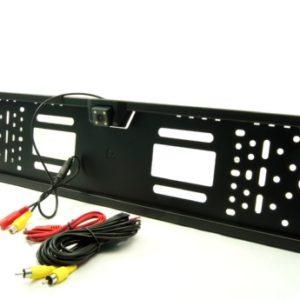 Камера заднего вида парковочной системы в рамке номера AVS PS-815